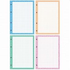 Блок для тетрадей с кольцами А5 200л (4цв*50л) цветная рамка, белый фон Офис-спейс СБц200к_14427
