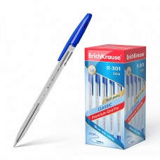 Ручка шар. ErichKrause R-301 Classic синяя 1,0мм 43184 масляная (стержень 140мм)