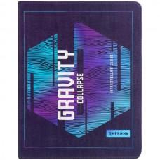 Дневник 1-11класс/интегр.обл кожзам Gravity collapse фиолетовый Greenwich Line DSK_33635