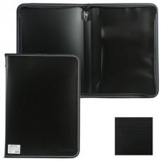 Папка пластик А4 на молнии черная+внутренний карман Brauberg 225162