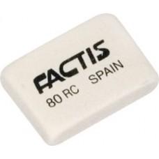Ластик FACTIS 80RC прямоугольный мягкий белый 28*20*7 мм (Испания) синтетический каучук