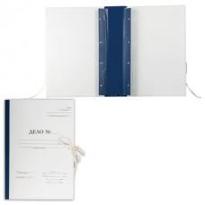 Папка для переплета А4 70мм 500л с гребешками 4 отверстия+завязки картон/бумвинил Форма 21  127133
