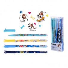 Ручка пишет-стирает гелевая Mazari 5312 синяя 0,5мм цветной корп. Gafflan M-5312-70 (стирает ластик)