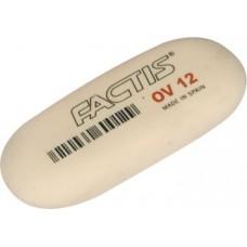 Ластик FACTIS EOV12 овальный белый большой синтет.каучук (Испания) 61*28*13мм CMFOV12