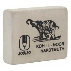 Ластик Koh-i-Noor Слон 300/30 белый прямоугольный большой (Чехия) для карандашей