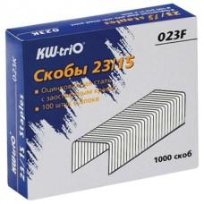 Скобы для степлера №23/15 (до 120л) (1000скоб) KW-trio 023F