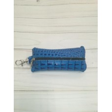 Ключница кожа на молнии синяя Россия тип 1.1