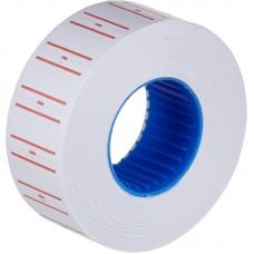 Ценник-лента 21*12мм (1000шт) белый +красные полоски Офис-спейс Stl_4198
