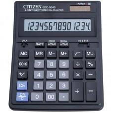 Калькулятор настольный 14-разрядов Citizen SDC-554S черный (15*20 см)