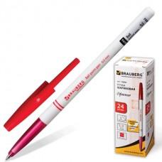 Ручка шар. Brauberg 140892 офисная красная 1,0 мм белый корпус
