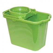 Ведро пластик  9,5л прямоугольное с отжимом зеленое пластик (моп 602584,-585) IDEA, М2421, М 2421