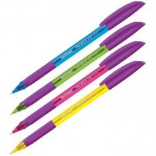 Ручка трехгранная шар. Berlingo Triangle 110 Color синяя 0,7мм грип, яркое ассорти  CBp_07115
