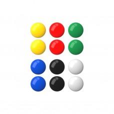 Магнит для доски (набор 12шт) 20мм круглые ассорти ErichKrause 22460