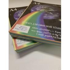 Бумага для принтера А4 цветная 80г/250л 5цветов*50л РАДУГА Папир 7927 (***)