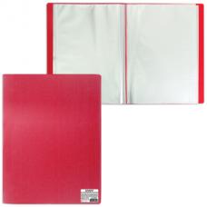 Папка 40 файлов красная 0,50мм STAFF 225702