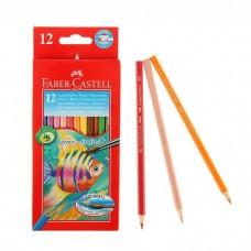 Карандаши цветные акварель 12цв. Faber-Castell с кистью карт/кор 114413