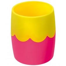 Стакан пластик двухцветный розово-желтый Стамм СН502