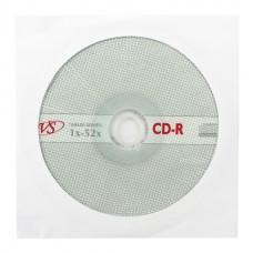 Диск CD-R VS 700 52* в бумажном конверте 511554 (ш/к635131)