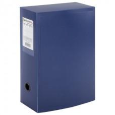 Короб архивный пластик 100мм синий разборный на кнопке (на 900л) Brauberg Energy 235375