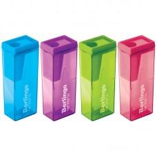 Точилка пластик с контейнером Berlingo Neon офисная Bo BBp_15008 неоновый корпус ассорти
