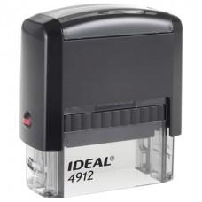 Оснастка д/штампа 47*18мм Trodat Ideal 4912 4912 P2 автомат подушка в комплекте синий 125420