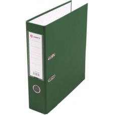 Папка-регистратор А4 80мм ПВХ цвет зеленый карман на корешке +метал.окантовка Lamark AF0600-GN