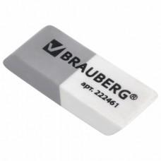 Ластик Brauberg скошенный двухцветный 41*14*8 мм 222461 термопластичная резина