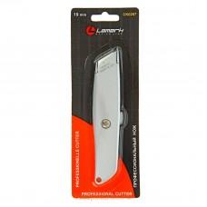 Нож канцелярский большой 19мм мет/корпус профессиональный Lamark CK0207