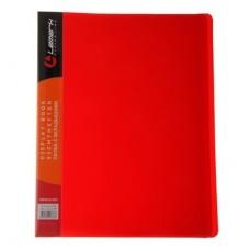 Папка 40 файлов неон красная 0,60мм жесткая Lamark DB0035-IMRD