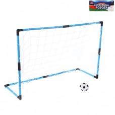 Ворота футбольные Весёлый футбол 98*34*64см сетка, мяч d=14 см пластик 1078298
