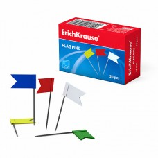 Кнопки-гвоздики Флажок 50шт в коробке ErichKrause 28232