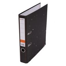 Папка-регистратор А4 50мм мрамор цвет черный с мет.уголком Lamark AF0701-BK1 (собранная)