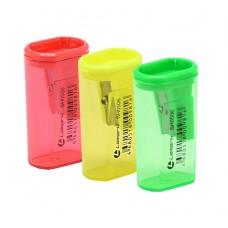 Точилка пластик с контейнером Lamark SH0506 овальный тубус цвет ассорти