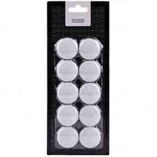 Магнит для доски (набор 10шт) 30мм Белые Офис-спейс блистер  MN30_7251