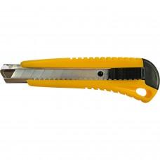 Нож канцелярский большой 18мм мет/держатель с фиксатором Dolce costo желтый D00170