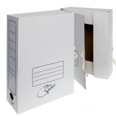 Короб архивный картон  75мм с завязками белый 158550 Офис-спейс A-GAT75_368