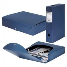 Короб архивный пластик  70мм синий разборный на кнопке (на 600л) Brauberg Energy 231539