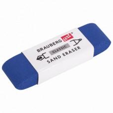 Ластик Brauberg Sand eraser прямоугольный синий 52*14*10 мм абразивный для ручки и карандаша 229579