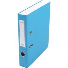 Папка-регистратор А4 50мм ПВХ цвет голубой карман на корешке +метал.окантовка Lamark AF0601-LB1