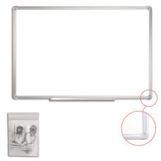 Доска магнитно-маркерная 60*90см белая настенная Staff 235462 алюминиевая рамка с полкой