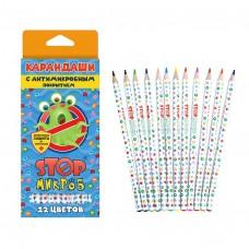 Карандаши цветные 12цв. J.Otten StopМикроб (антибакт. покрытие) карт/кор 202-12