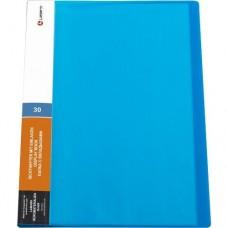 Папка 30 файлов синяя 0,60мм жесткая Lamark DB0134-BL