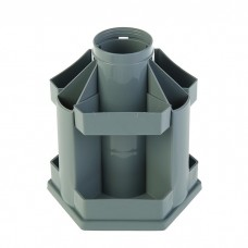 Подставка настольная пластик Maxi Desk серый ОР201 Стамм