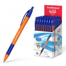 Ручка шар.авт. ErichKrause U-209 синяя 1,0мм 47593 оранж.трехгр.корпус с грипом Orange Matic&Grip
