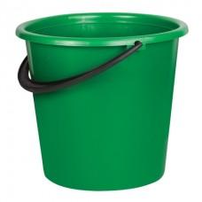 Ведро пластик 10л хозяйственное усиленное, мерная шкала, без крышки ассорти Лайма 603895