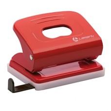 Дырокол 20л Lamark красный металл с линейкой PN0149-RD