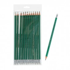 Карандаш пластиковый ч/г с ластиком Dolce Costo HB зеленый корпус D00240