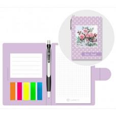 Блокнот-Органайзер А6 + ручка и пластик.закладки (105*150мм) Bouquet Lamark NB0109
