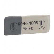 Ластик Koh-i-Noor Sanpearl 6541/40 бело-серый скошенный большой (Чехия) для чернил и карандашей