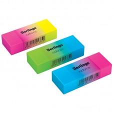 Ластик Berlingo Radiance прямоугольный цветной BLc_00590 двойной яркий 50*18*10мм пластик